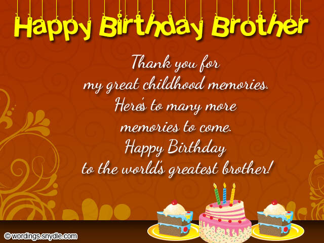 Best Birthday Wishes for Friend Sister Brother Page 3 of 3 – Birthday Greeting Cards Brother